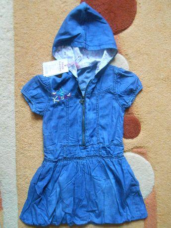 Ръст 110 нова дънкова детска рокля