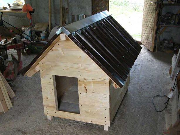 cotet catei XXL din lemn masif, acoperisul se deschide.