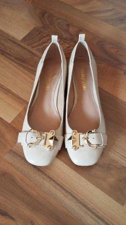Pantofi balerini lac bej nude Moda in Pelle piele naturala 38 noi