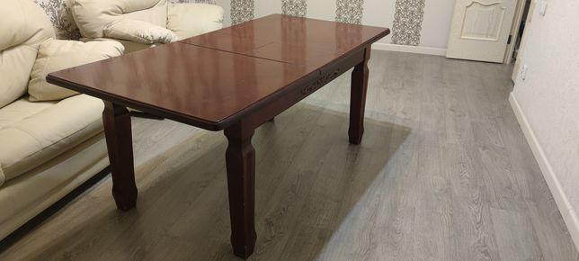 Обеденный стол тёмный бук