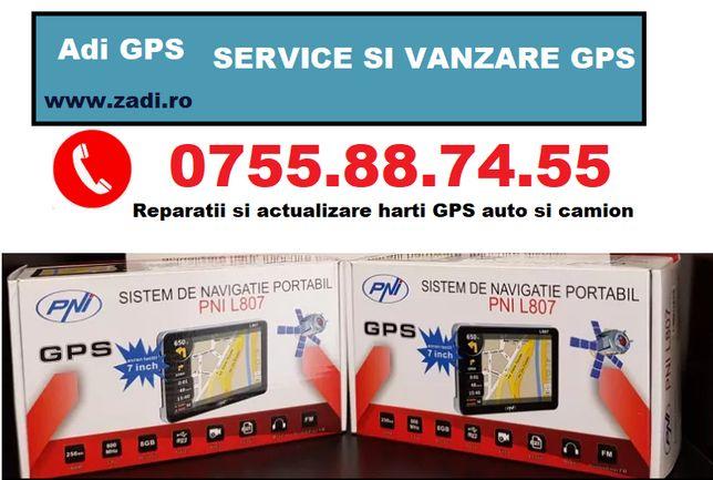 "GPS 7""-(garantie 2ani)-livrare in tara-4programe auto-camion instalate"