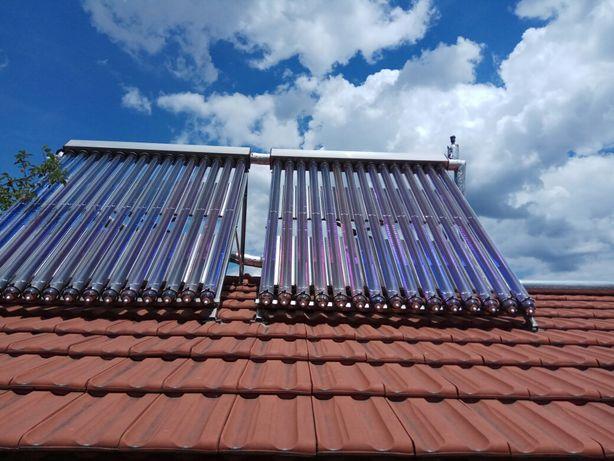 Panouri solare apa calda presurizate cu tuburi vidate tip heat pipe.