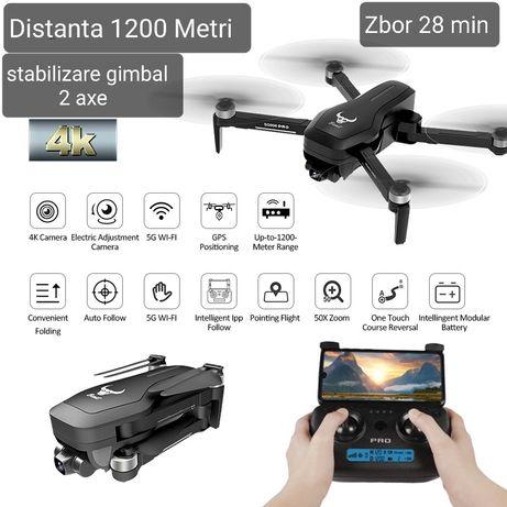Drona cu Cameră Sony 4K electrica,1200 metri, 28min, GPS, Gimbal, Noua