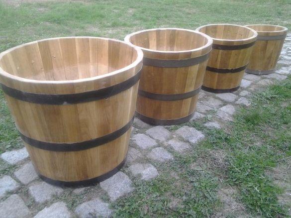 Дървени саксий,кашпи