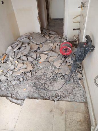 Beton mozaic gresie spart