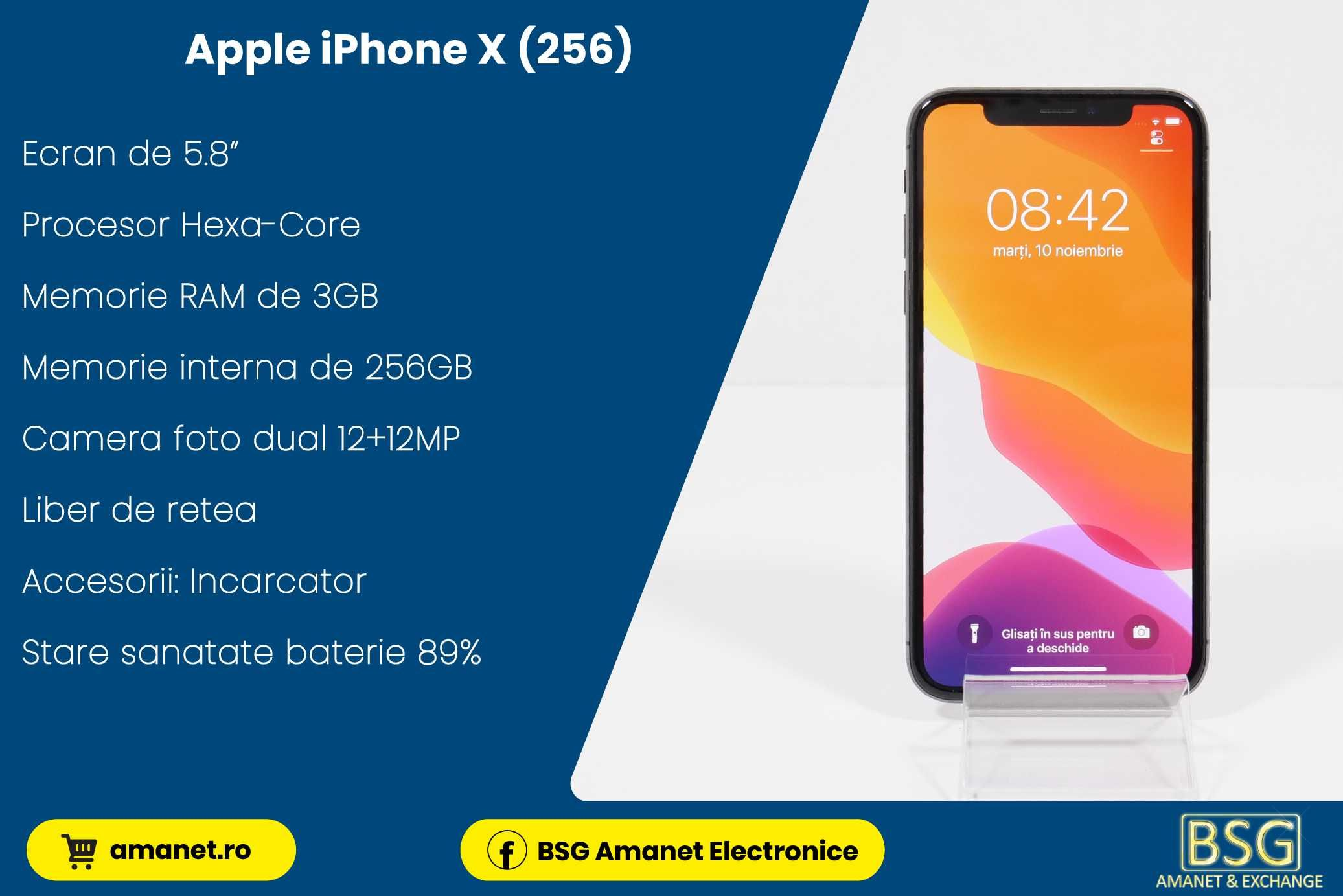 APPLE Iphone X (256) - BSG Amanet & Exchange