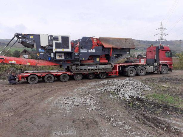 Transport agabaritic Excavatoare,Concasoare, tractoare