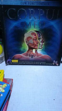 Corpul meu .Carte pentru copii, 3 D, pentru studiu anatomie.