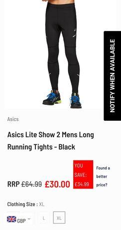 Asics трико (тайтсы) для бега.