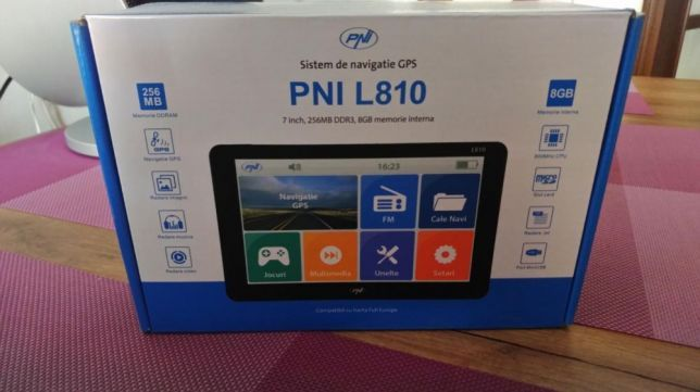 GPS TIR/setari gabaritice, nou cu factura - softuri si harti instalate
