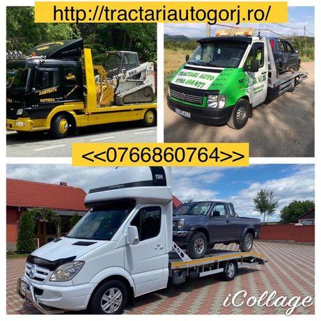 Tractari auto,Slep,Platforma auto, Transport utilaje, Tractoare, Dube