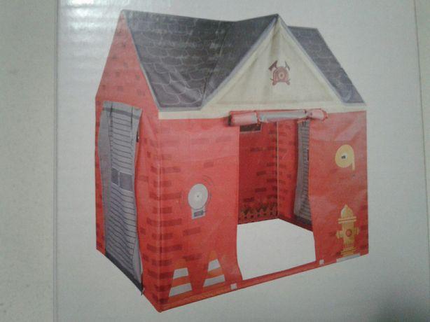 Cort distractiv casuta copii, model Statie pompieri, 110x80x115cm, nou
