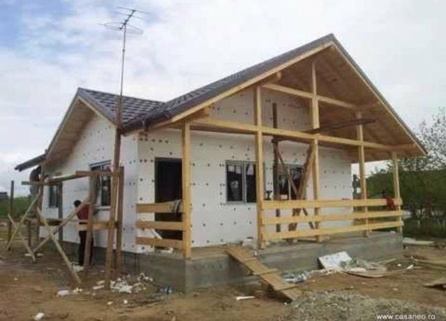 Vindem cabane din lemn sau case pe structura metalică