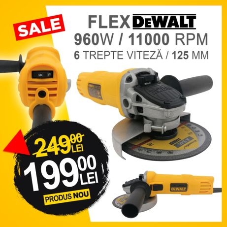 Flex DeWalt 960 W - 125 mm - 11800 rpm