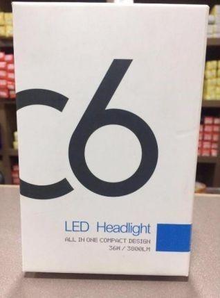 С Гаранция !! Диодни LED Авто Крушки C6/36W (H4/H1/H7/9006 / 9013 гр. Пловдив - image 1