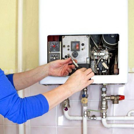 Ремонт газовых отопительных котлов .