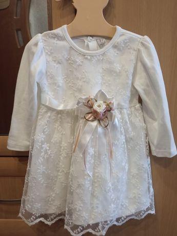 Белое шикарное платье