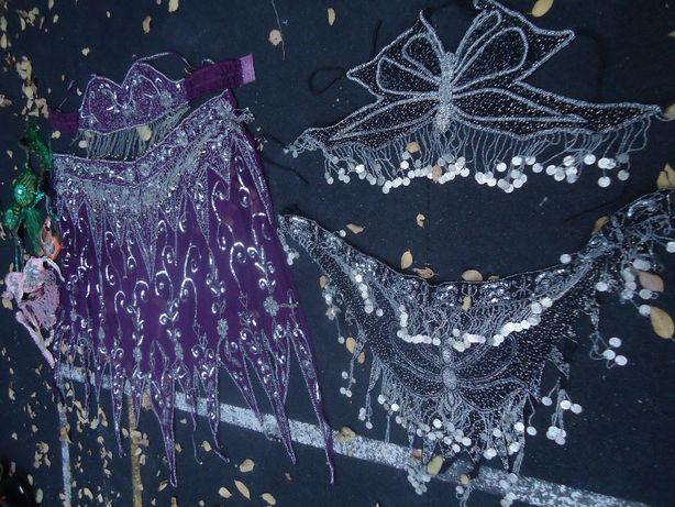Танцевальные костюмы 4-ре штуки Индия из 100% Натурального шелка