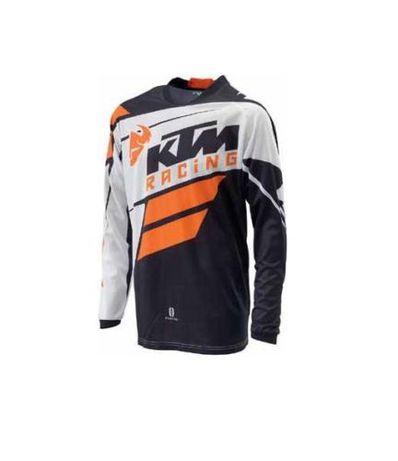 НОВА фланелка KTM PHASE от THOR оранжева бяла черна размер М 2XL