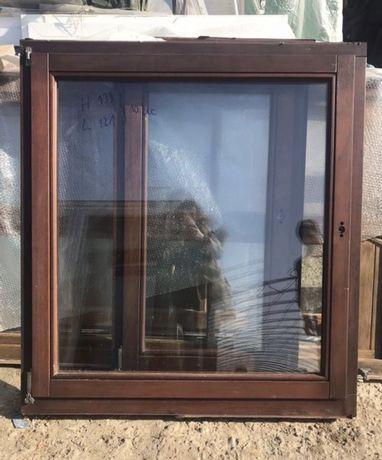 Fereastra lemn casa firma geam termopan H 133 x L 121 Germania