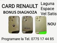 Card cartela Renault Laguna,Espace,Vel Satis,programez cheie Megane
