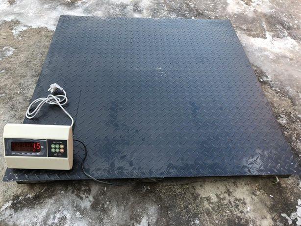 Весы платформенные, промышленные до 3000 кг. 1 метр на 1 метр.