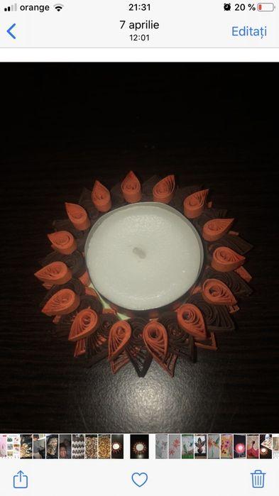 Marturi pentru nunta ( lumanari quilling ) Santana - imagine 1