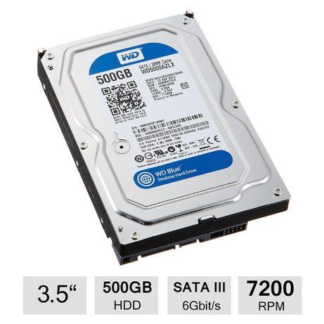 Hdd PC 500GB Western Digital Sata3 7200 WD5000AZLX hard disk sigilat