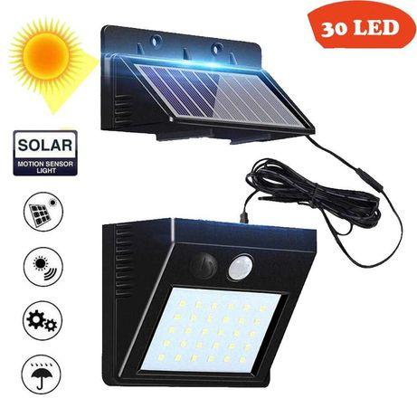 Соларна лампа с 3 режима, 30LEDs подвижен панел и фотоклетка