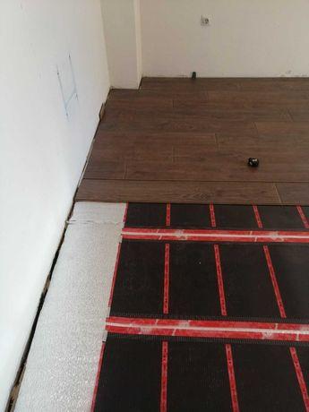 Монтаж на инфрачервено подово отопление под ламинат и др.настилки