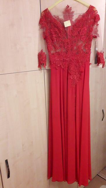 Rochie lunga de ocazie rosie