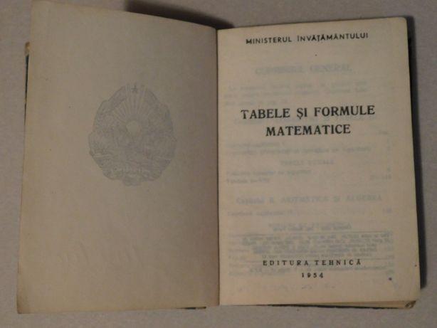 Tabele si formule matematice, Editura Tehnica 1954