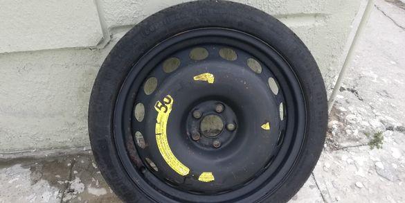 """Резервна гума патерица 18 """" за Vw Audi 5x100"""