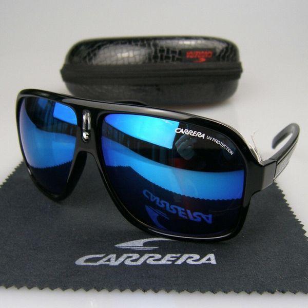 Мъжки Слънчеви Очила Carrera Sunglasees Black Черни Сини Каррера Нови