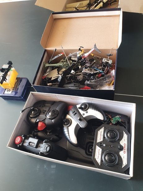Lot Piese elicopter gyro roti dintate motor elice etc