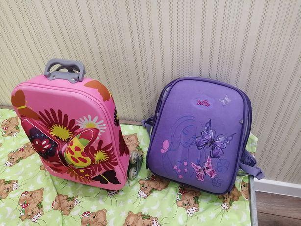 Рюкзак и чемодан