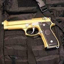 Pistol Airsoft MODEL NOU Taurus PT92 Gold 4,3j Co2
