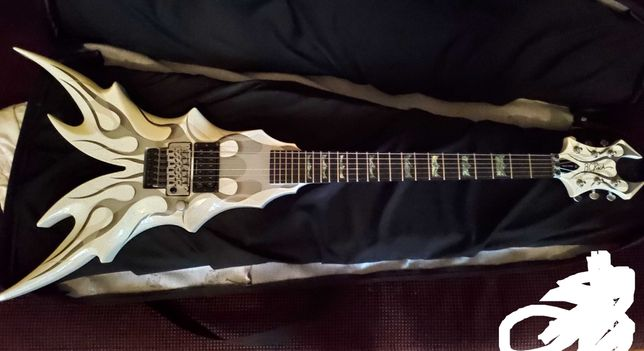 B.C. Rich Draco Ghost Flame Limited