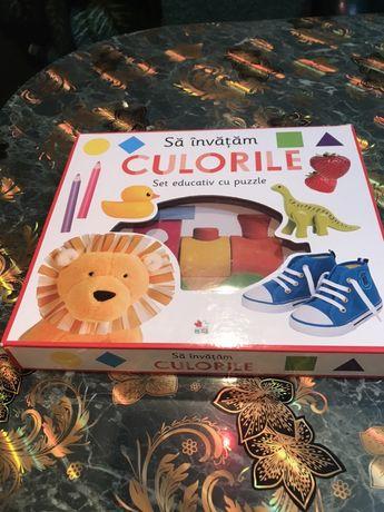 Set educativ Puzzle sa invatam culorile