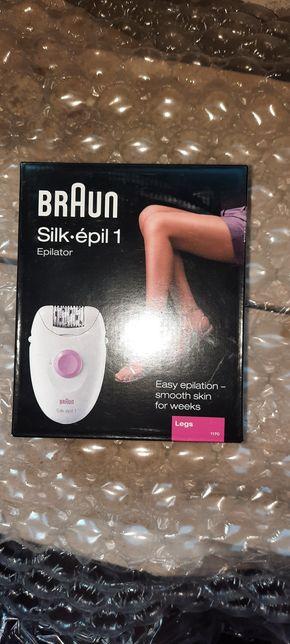 Epilator Braun Silk-épil 1170, 20 pensete, 1 viteza, Alb/Roz
