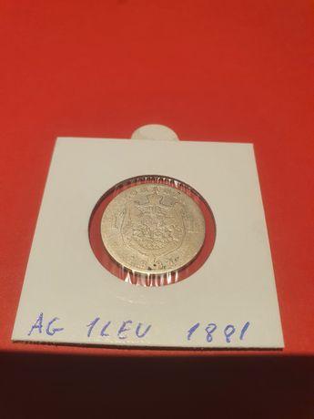 1 leu 1881 din argint