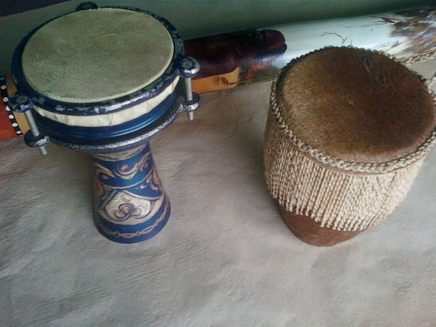 Настоящие рабочие Африка шаманские 2-ва барабана Кожа
