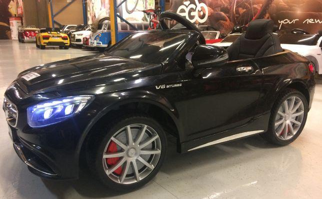 Masinuta electrica pentru copii Mercedes S63 AMG 90W 12V #Negru