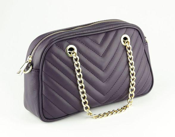 Geanta medie piele Italia/Quilted leather bag