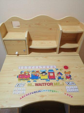 Birou lemn copii și scaun