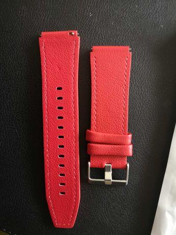 Curea piele leather rosu inchis Huawei Gt / Gt2 /Gt2 PRO 22mm noua