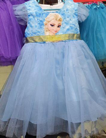 Костюм детский платье Эльзы