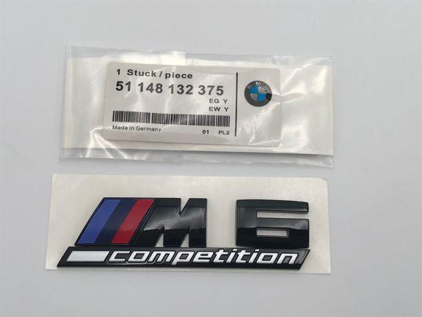 Emblema BMW M6 COMPETITION spate negru