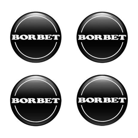 Силиконови стикери за капачки на джанти Borbet размери 40мм до 90м