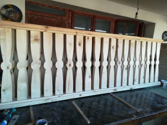 Дървени оградни платна и стайни парапети